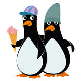 Penguins and ice cream Stock Image
