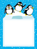 Penguins on an ice floe Royalty Free Stock Image