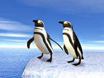 Penguins on an iceflow Stock Photography