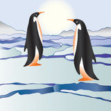 Penguins among ices Royalty Free Stock Photos