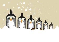 Penguins In A Row Stock Photos