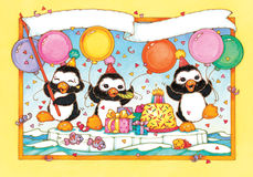 Penguins Know How to Party Royalty Free Stock Photos