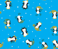 Penguins Pattern seamless Royalty Free Stock Image