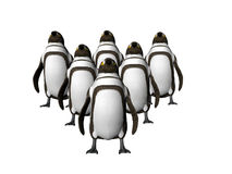 Penguins on Point Two royalty free illustration