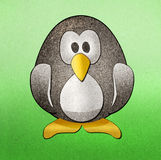 Penguins recycled paper craft Royalty Free Stock Photos