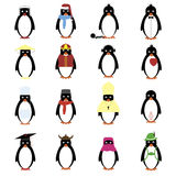 Penguins set Stock Image