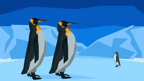 Penguins at the South Pole, seamless, animal Royalty Free Stock Image