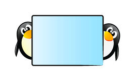 Penguins with table Stock Images