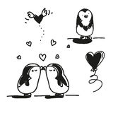 Penguins valentine Stock Photo