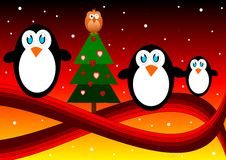 Penguis family Stock Photo