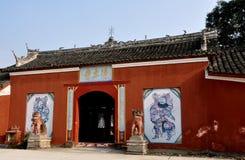 Pengxhou, China: Jing Tu XI buddhistischer Tempel Lizenzfreie Stockfotos