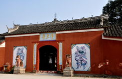 Pengxhou, Chine : Temple bouddhiste de Jing TU XI Photos libres de droits
