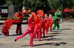 Pengxzhou, China: Dancers in Performance Royalty Free Stock Photos