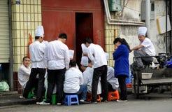 pengzhou китайца фарфора шеф-поваров Стоковое Изображение