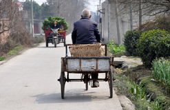 pengzhou человека фарфора тележки велосипеда старое Стоковые Фотографии RF
