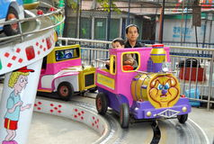 Pengzhou, China: Amusement Park Ride Stock Photography
