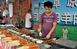 Pengzhou, China: Barbecuing Meats Stock Photography