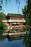 Pengzhou, China: Casa de té del parque de Pengzhou Fotos de archivo libres de regalías