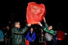Pengzhou, China: Celebrating Chinese New Year Royalty Free Stock Images