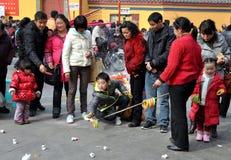 Pengzhou, China: Celebrating Chinese New Year Royalty Free Stock Photos
