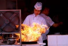 Pengzhou, China: Chef Stir-Frying Food Royalty Free Stock Photos