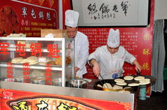 Pengzhou, China: Chefs Making Flat Bread Royalty Free Stock Image