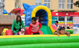Pengzhou, China: Children at Play Royalty Free Stock Photo