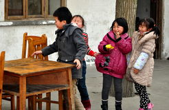 Pengzhou, China: Children Playing at Home Royalty Free Stock Images