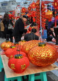 Pengzhou, China: Chinese New Year Royalty Free Stock Photography