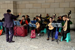 Pengzhou, China: Chinese Orchestra in Concert Royalty Free Stock Photo