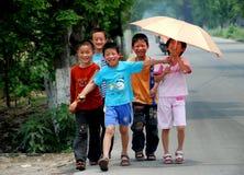 Pengzhou, China: Chinese Schoolchildren Royalty Free Stock Photo