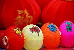 Pengzhou, China: Chinesische neues Jahr-Laternen Lizenzfreies Stockfoto