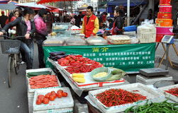 Pengzhou, China: Colourful Long Xing Marketplace Stock Photos