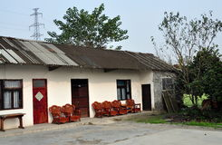 Pengzhou, China: Country Farmhouse Stock Photo