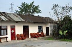Pengzhou, China: Country Farmhouse Stock Photo