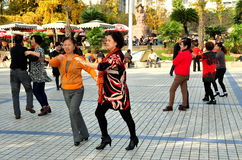 Pengzhou, China: Couples Dancing in Park Stock Photography