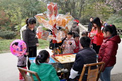 Pengzhou, China: Crowds Buying Candy Royalty Free Stock Image