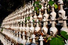 Pengzhou, China: Dagoba Burial Urns at Ci Ji Temple Royalty Free Stock Images