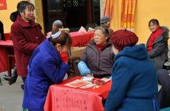 Pengzhou, China: De Teller van het fortuin Stock Afbeeldingen