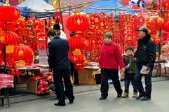 Pengzhou, China: Decoraciones chinas del Año Nuevo Fotografía de archivo