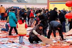 Pengzhou, China: Decoraciones lunares del Año Nuevo Imagen de archivo