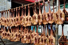 Pengzhou, China: Dried, Pressed Ducks Stock Image