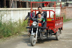 Pengzhou, China: Famer and Son Royalty Free Stock Image