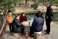 Pengzhou, China: Family Playing Cards Stock Images