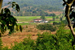Pengzhou, China: Farmhouse and Fields Stock Photos