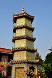 Pengzhou, China: Five Story Pagoda at Ci Ji Temple Stock Photo