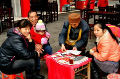 Pengzhou, China: Fortune Teller and Clients Stock Image