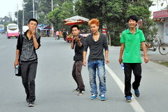Pengzhou, China: Four Teenaged Youths Stock Photos