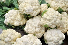 Pengzhou, China: Fresh Cauliflowers Stock Images