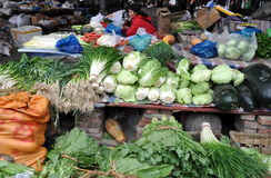 Pengzhou, China: Fresh Produce at Market Royalty Free Stock Photo